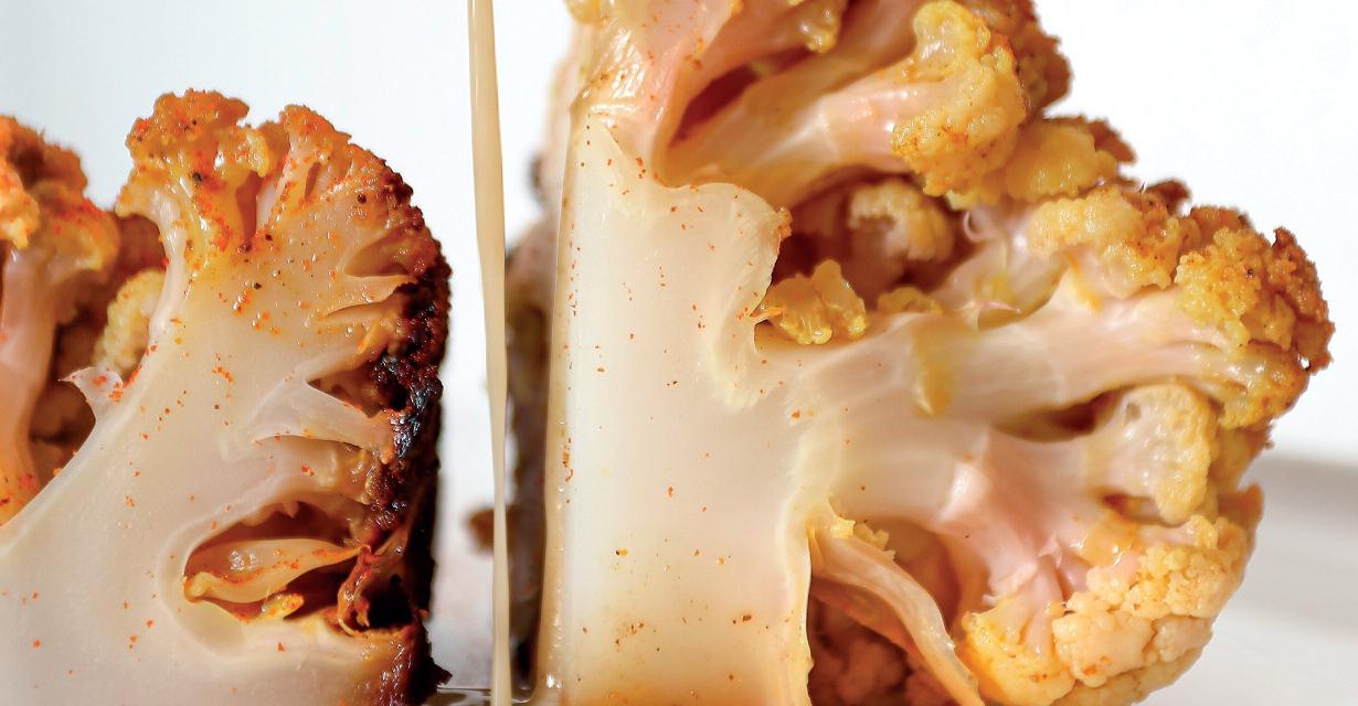 Recettes saines et gourmandes : Chou-fleur rôti, sauce Tahini