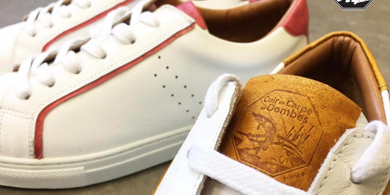 Des baskets en cuir de Carpe de Dombes !